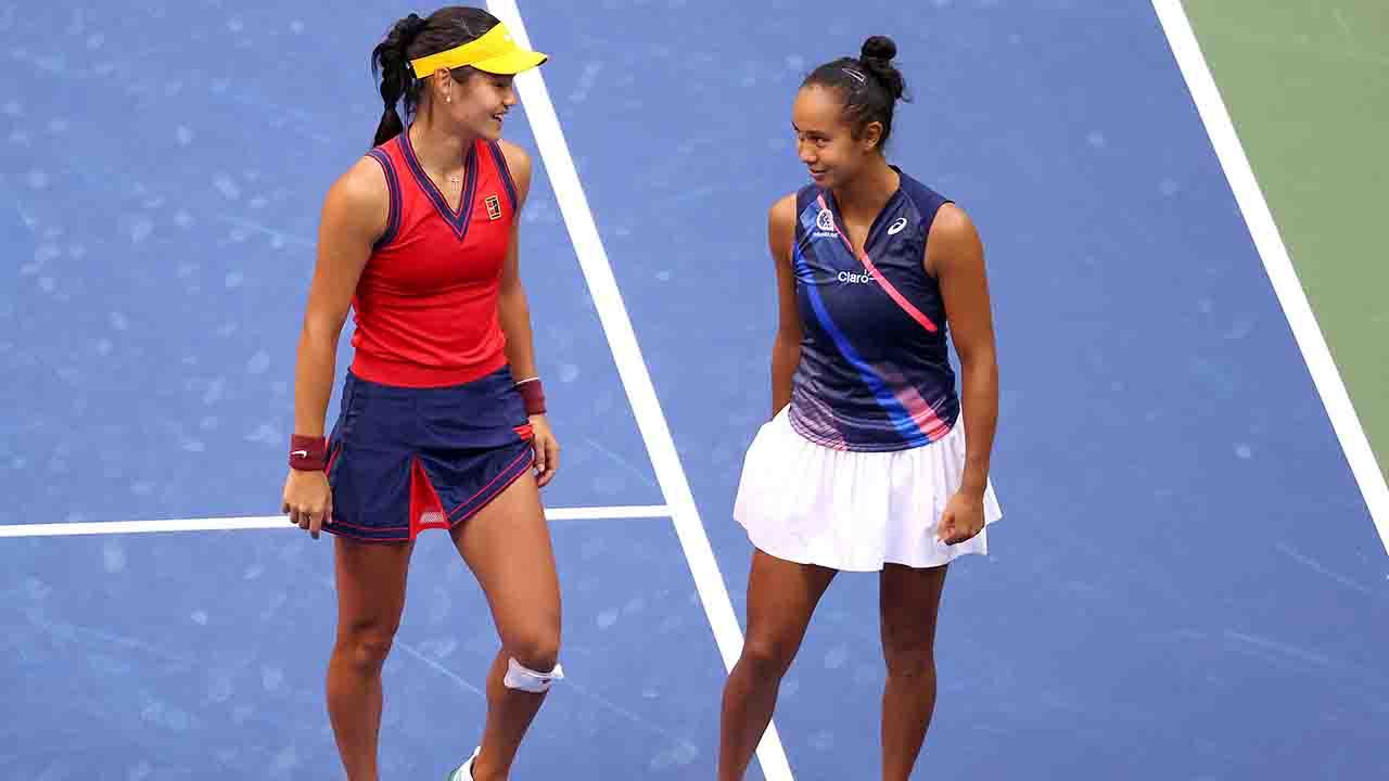 US Open Raducanu Fernandez